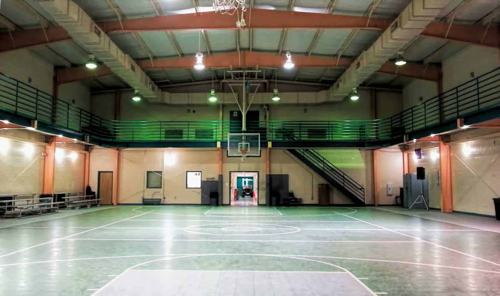 Bible Way Church Gym: Before (Dim)